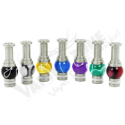 510 Stainless Steel and Acrylic Drip Tip
