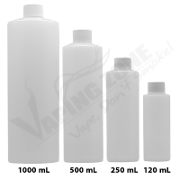 HDPE Translucent Empty Bottle with cap