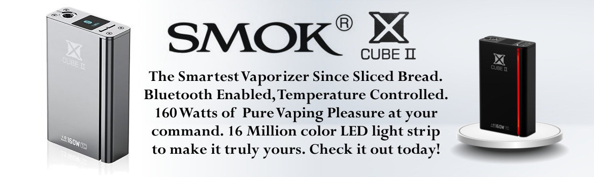 Smok X Cube II The Smartest Vaporizer Since Sliced Bread. Bluetooth Enabled, Temperature Controlled.