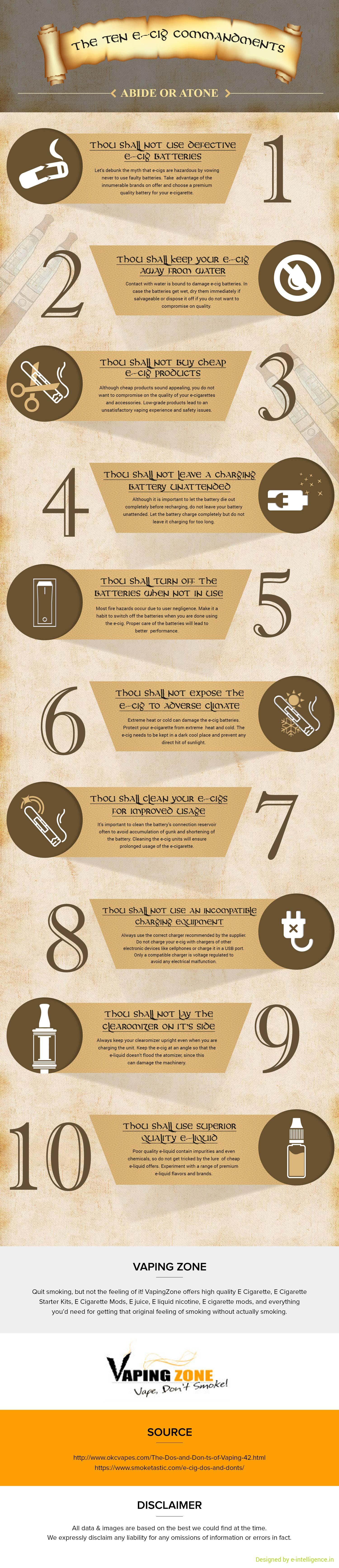 The 10 E-Cig Commandments, Rules For Vapers