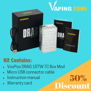 VooPoo DRAG 157W TC Box Mod Kit