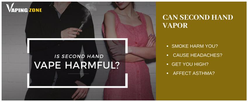 Is Second Hand Vape Harmful?
