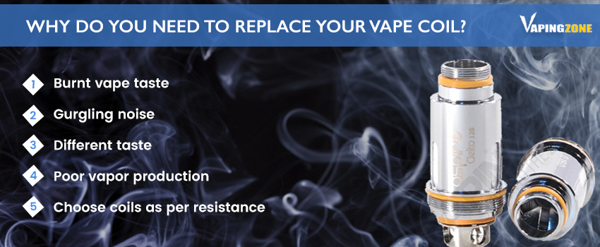 Why and When do you need to replace your vape coil?