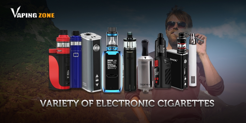 Types Of Ecigs- TVaping For Beginners