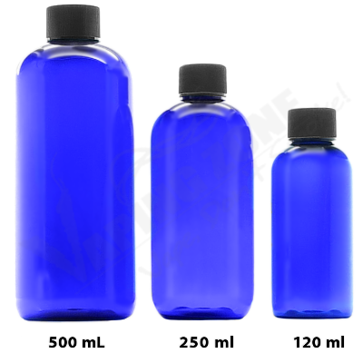 120ML Blue PET Empty Bottle with cap