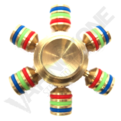 VZ 6 Side Fidget Spinner Copper