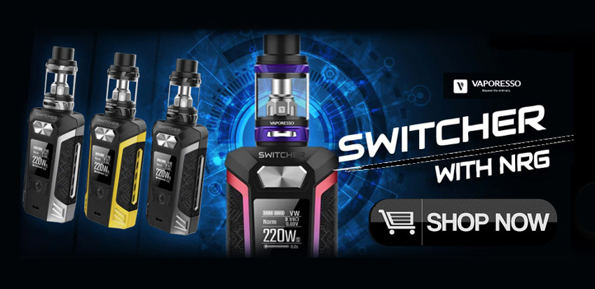 VAPORESSO SWITCHER 220W TC MOD STARTER KIT WITH NRG SUB-OHM TANK